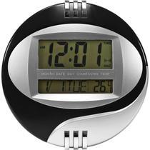 Relógio De Parede Digital Redondo Colors A Pilha 20cm - Exclusivo