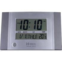 Relógio De Parede E Mesa Digital Moderno Termômetro Com Duas Escalas Timer Alarme Melodia Herweg Cin -