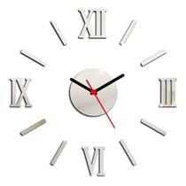 Relógio De Parede Espelhado Em Acrílico Decorativo - Tecnotronics