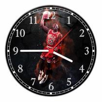 Relógio De Parede Esporte Basquete Decoração Quartz - Vital Quadros