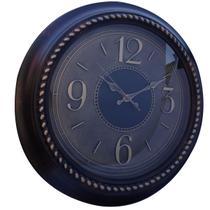 Relógio de parede estilo madeira clássico retrô grande 40x40 - Imporiente
