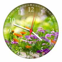 Relógio De Parede Flores Paisagem Natureza Salas Cozinhas Decoração - Vital Quadros