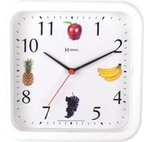 Relógio De Parede Frutas Cozinha Churrasqueira Área Gourmet  23 Cm - Ref - 660049 -  Branco - Herweg