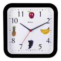 Relógio De Parede Frutas Cozinha Churrasqueira Área Gourmet  23 Cm - Ref - 660049 -  Preto - Herweg