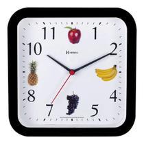 Relógio De Parede Frutas Cozinha Churrasqueira Área Gourmet  23 Cm - Ref - 660049 -  Preto - Herweg -