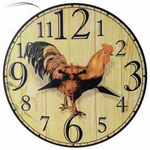 Relógio De Parede Galo Galinha Cozinha Vintage Retrô 30cm - Relógil