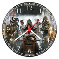 Relógio De Parede Games Jogos Assassins Creed - Vital Quadros