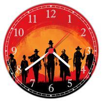 Relógio De Parede Games Jogos Red Dead Redemption Decorar - Vital Quadros