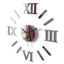 Relógio De Parede Grande Espelho Sala Cozinha Monte Você Mesmo - Visual Laser