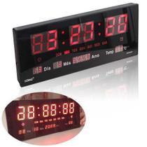 Relógio De Parede Grande Painel Led Digital Calendário Hora Temperatura - Luatek