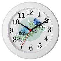 Relógio de Parede Herweg Branco Pássaros 21CM 660020-021 -
