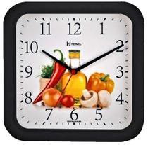 Relógio de Parede Herweg Cozinha Preto 660001-034 -