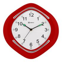 Relógio de Parede Herweg Decorativo Vermelho 6124-044 -