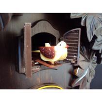 Relógio de Parede Herweg Ref: 5386-84 Cuco Madeira Ipê -