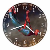 Relógio De Parede Homem Aranha Super Heróis Decoração Quartz - Vital Quadros