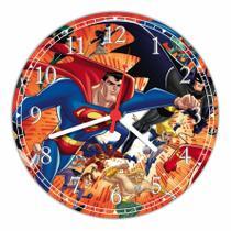 Relógio De Parede Liga Da Justiça Super Heróis Geek Nerd Decoração Quartz - Vital Quadros