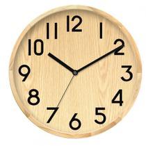 Relógio de Parede - Madeira - 30cm - Btc