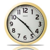 Relógio de Parede modelo cerejeira Moderno 43,5cm Yin's - imporiente