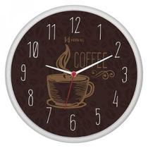 Relógio De Parede Moderno Cozinha Decorativo Café Herweg  C/ 1 Ano De Garantia - Ref - 660014 -
