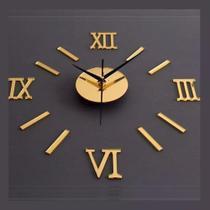 Relógio De Parede Monte Você Mesmo Espelho Sala Cozinha - Muhsein