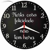 Relógio de Parede Nesta Casa Felicidade Cozinha Home Feliz 30cm - Relógil