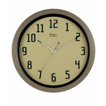 Relógio de parede noturno analógico moderno sofisticado mecanismo step herweg champanhe -