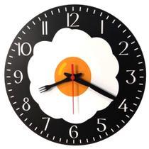 Relógio De Parede Ovo Frito Frigideira Panela Cozinha 30cm - Relógil