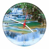 Relógio De Parede Paisagem Cachoeira Natureza Salas Cozinhas Decoração - Vital Quadros