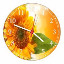 Relógio De Parede Paisagem Flores Girassol Natureza Salas Cozinhas Decoração - Vital Quadros