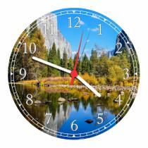 Relógio De Parede Paisagem Lago Pedras Árvores Natureza Salas Cozinhas Decoração - Vital Quadros