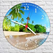 Relógio De Parede Paisagem Mar Sol Praia Natureza Salas Cozinhas Decoração - Vital Quadros