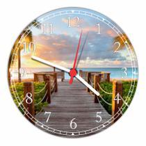 Relógio De Parede Paisagem Ponte Praia Natureza Salas Cozinhas Decoração - Vital Quadros