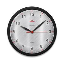 Relógio de Parede para Cozinha Redondo Moderno Preto - Plashome