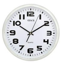 Relógio de Parede Prata Redondo 33CM - Yins