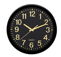 Relógio de Parede Preto e Dourado Mart -