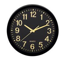 Relógio de Parede Preto e Dourado - --