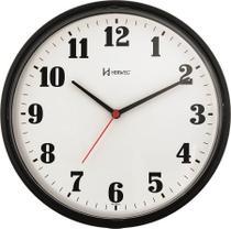 Relógio de Parede Quartz - Analógico - Preto - Herweg -