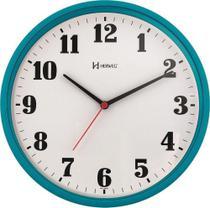 Relógio de Parede Quartz - Analógico - Turquesa - Herweg -