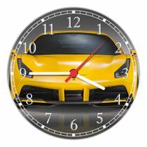 Relógio De Parede Quartz Carro Ferrari Amarela Automobilismo Automóvel Tamanho 40 Cm RC049 - Vital Printer