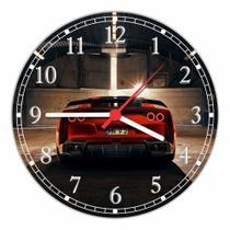 Relógio De Parede Quartz Carro Ferrari Traseira Automobilismo Automóvel Tamanho 40 Cm RC047 - Vital Printer