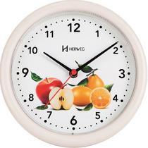 Relógio de Parede Redondo para Cozinha Frutas 22 cm Herweg 6105-21 -