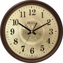 Relógio de Parede Retrô - Analógico Silencioso - Ipê - Herweg -