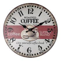 Relógio de Parede Roasted Coffee 33cm Yaay! YMP085 -