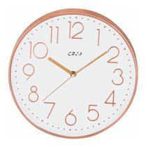 Relógio De Parede Rose Gold Prata 25cm Cozinha Sala Casa - Exclusivo