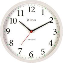 Relógio de Parede Silencioso Contínuo - Analógico - Branco - Herweg -