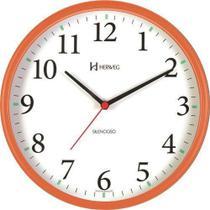Relógio de Parede Silencioso Laranja 26 cm Herweg 6126S-270 -