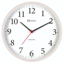 Relógio de Parede Silencioso Redondo Branco 26 cm Herweg 6126S-21 -