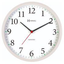 Relógio de Parede Silencioso Redondo Branco Herweg 6126S-21 -