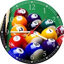 Relógio De Parede Sinuca Bilhar Salas De Jogos - Vital Quadros