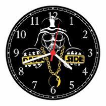 Relógio De Parede Star Wars Darth Vader Geek Nerd Decoração Quartz - Vital Quadros